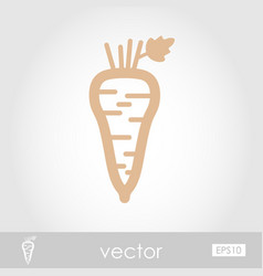 Parsnip root outline icon vegetable vector