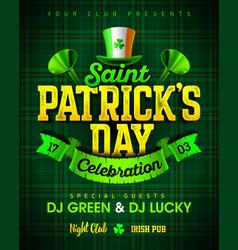 saint patricks day celebration party invitation vector image vector image