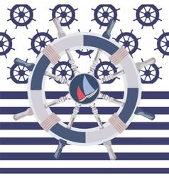 Ship steering wheal vector