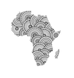 silhouette of africa and madagascar map vector image vector image