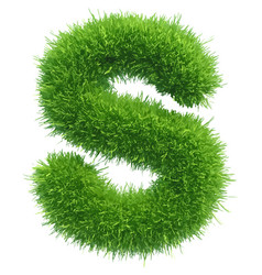 Small grass letter s on white background vector