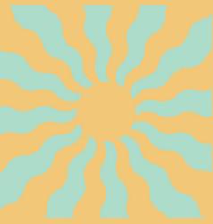Spring sun in pastel colors wavy rays sun vector