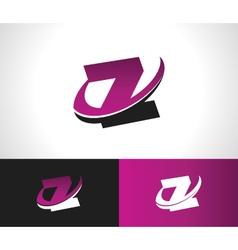 Swoosh alphabet icon z vector