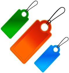Three price lists vector image