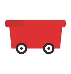 Toy wagon icon vector