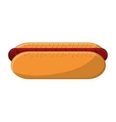 Isolated hot dog food design vector
