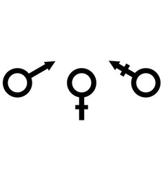 Sign symbol of gender equality male female and vector