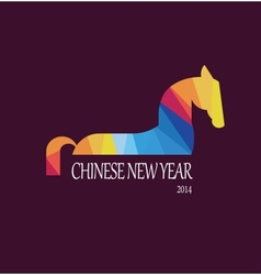 Happy new year 2014 year of the horse vector