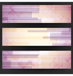 Abstract pink rectangle shapes banner vector