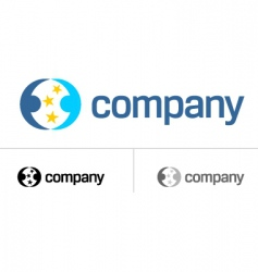logo for dating company vector image