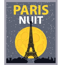 paris night vector image