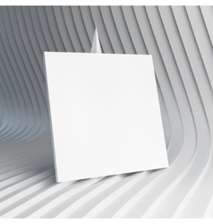 Empty white business card 3d vector image