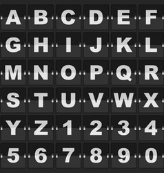 information alphabet and digits vector image
