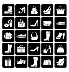 Fashion shoes and bags vector image
