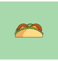 Tacos and burrito line icon vector