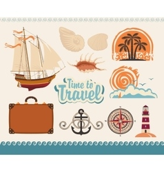 sea and tourism vector image