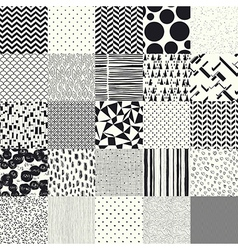 25 seamless different patterns vector image