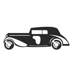 Retro car black flat vector image