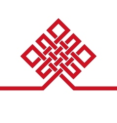 Auspicious endless knotbuddhist symbolred vector