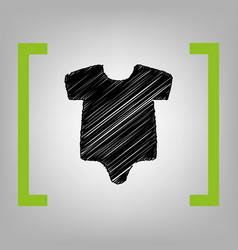 Baby cloth black scribble vector