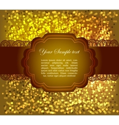 Beautiful greeting card vector image