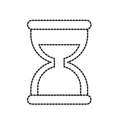 business time management hourglass and finance vector image