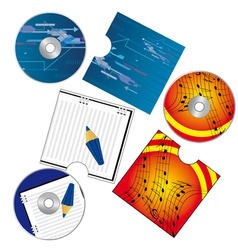 CD's and covers vector image vector image
