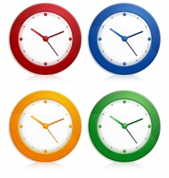 color wall clocks vector image
