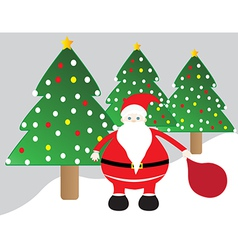 Cute santa claus christmas vector image