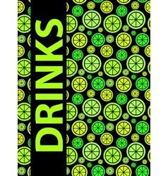 Drinks menu background vector