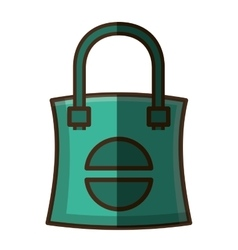 Fabric bag transport isolated icon vector