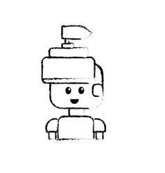 Figure warrior character to video game technology vector