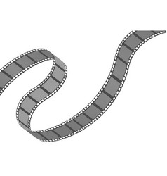 Filmstrip roll cinema and movie element or object vector