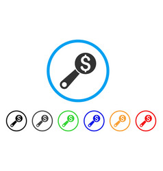 financial audit rounded icon vector image