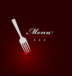 fork menu restaurant cover vector image
