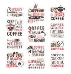 hand drawn coffee badge vector image vector image