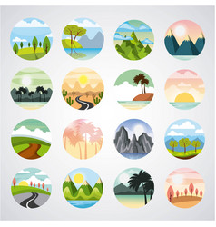 icons set landscape vector image