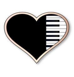 love piano vector image vector image