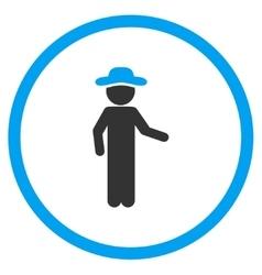 Male invitation circled icon vector