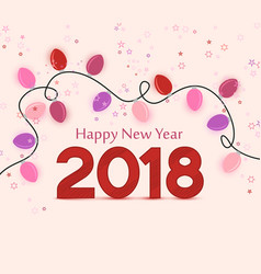 new year 2018 vector image vector image