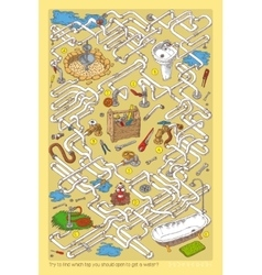 Pipes maze game vector