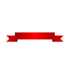 realistic red glossy ribbon isolated icon vector image vector image