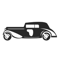 Retro car black flat vector image