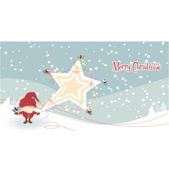 Santa with star vector