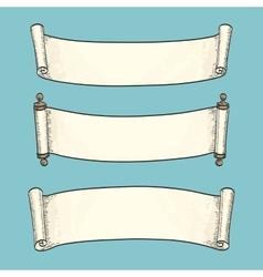 Set of vintage scrolls vector