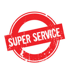 super service rubber stamp vector image vector image