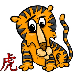 Tiger chinese zodiac horoscope sign vector