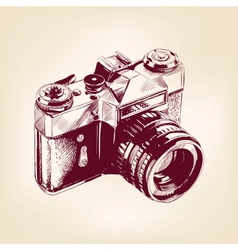 vintage old photo camera llustration vector image