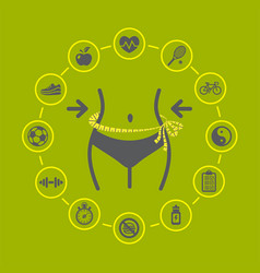 weight loss with health and fitness vector image vector image