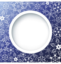 Winter creative background with ornate snowflakes vector image vector image
